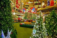 Frankenmuth, Michigan is a Bavarian-themed town with Bronners Christmas wonderland,