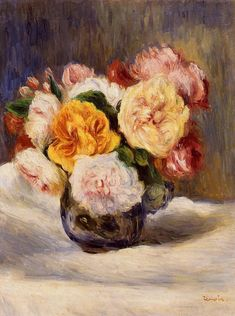 Bouquet of Roses  Pierre Auguste Renoir