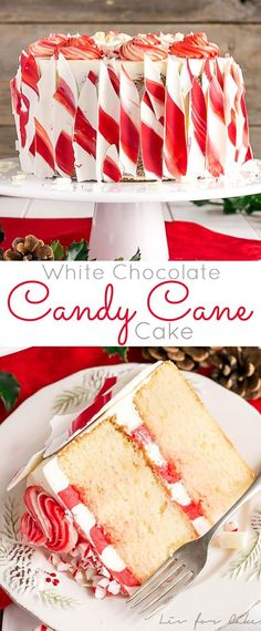 This White Chocolate Candy Cane Cake is the perfect addition to your holiday celebrations! The delicious combination of white chocolate and peppermint. Chocolate Peppermint Cake, White Chocolate Candy, Chocolate Cupcakes, Chocolate Chocolate, Peppermint Candy, Holiday Cakes, Holiday Treats, Holiday Recipes, Holiday Foods
