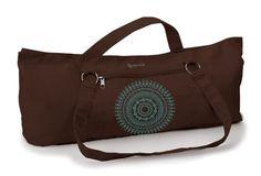 Gaiam Yoga Mat Tote Bag, Brown Marrakesh Gaiam