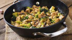 Feestje met peultjes, broccoli, paprika en prei