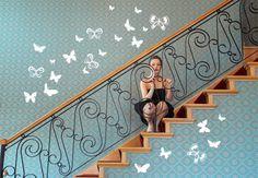 Wandtattoo Schmetterlingsschwarm von wall-art.de