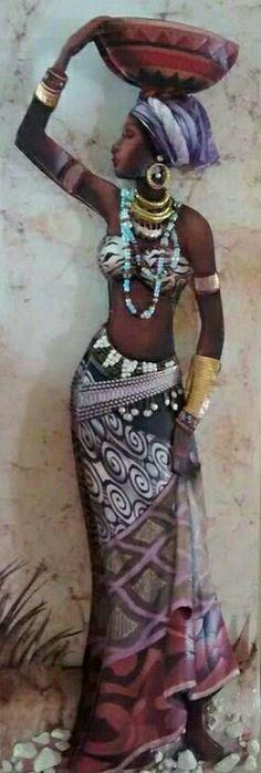 African Beauty, African Women, African Fashion, African Artwork, African Art Paintings, Art Et Architecture, Afrique Art, Art Africain, Black Artwork