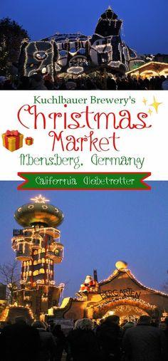 Kuchlbauer Brewery's Christmas Market & the Hundertwasserturm in Abensberg, Bavaria, Germany - California Globetrotter