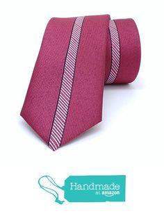 "Red stripes men's tie 6 cm (2,36"") SL-181 from Nazo Design… #handmadeatamazon #nazodesign"