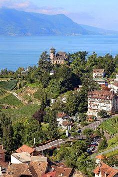 View From Chateau du Chatelard ,Switzerland
