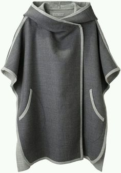Tsumori Chisato Hooded Cape I dont think I could pull this off but I love it. T Tesettür Hırka Modelleri 2020 Oversize Pullover, Vetement Fashion, Mode Hijab, Mode Outfits, Stylish Outfits, Diy Clothes, Ideias Fashion, Knitwear, What To Wear