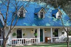 10 Blue Roof Houses Ideas Blue Roof House Exterior House Colors