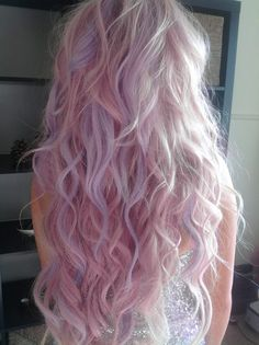 pastel lilac pink hair. perfect