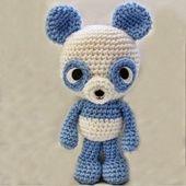 Panda Bleu - Patron Gratuit et en Français
