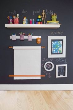 49 Clever Storage Solutions For Living With Kids Create an art corner in your kids' playroom space. Girl Room, Girls Bedroom, Baby Room, Red Bedrooms, Deco Kids, Montessori Bedroom, Toy Rooms, Kids Corner, Room Corner