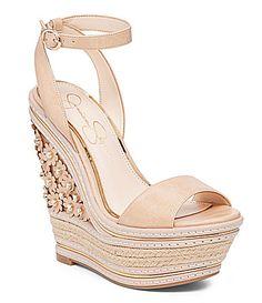 16901e0c3116db Jessica Simpson Ameka Wedge Sandals  Dillards Leather Wedge Sandals