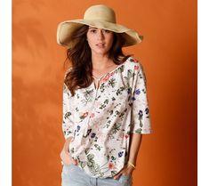 Halenka s potiskem květin | blancheporte.cz #blancheporte #blancheporteCZ #blancheporte_cz #moda #fashion #exkluzivni #exclusive