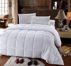 Royal Hotel Collection King/Cal king Size White Down Alternative Comforter Duvet Insert 300 Thread Count 60 Oz Down ALT Fillings