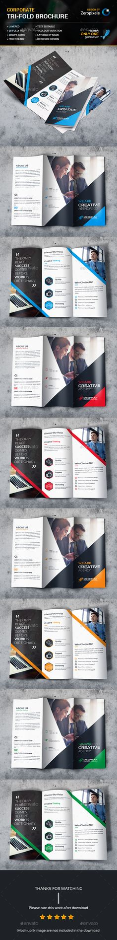 Corporate Business Trifold Brochures Template PSD. Download here: http://graphicriver.net/item/corporate-business-trifold-brochures/15523688?ref=ksioks