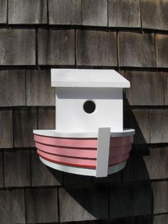 pvc birdhouse | PVC Boat Birdhouse PVC Bird House