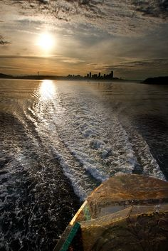 Aboard a Washington State Ferry leaving Seattle on a summer day.  -- I plan to take several sunset ferry rides - INCREDIBLE!  Very cool at night also.