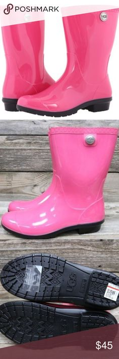 UGG Authentic Sienna Diva Pink ☔️ Rain Boots 🌈 New in box and authentic. Sheepskin insoles. UGG Shoes Winter & Rain Boots