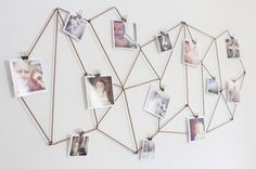 20 Unexpected Ways to Hang Pictures on Your Wall | StyleCaster