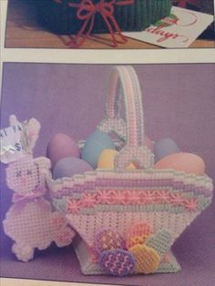 Plastic Canvas Easter Basket . . . I remember my mom made this one for my sister many, many years ago.