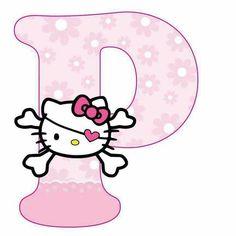 Hello Kitty Face Paint, Hello Kitty Art, Hello Kitty Theme Party, Hello Kitty Themes, Alphabet Letters Design, Alphabet Templates, Hello Kitty Pictures, Kitty Images, Hello Kitty Backgrounds