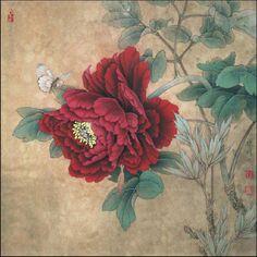 Blooming Peony. Xiaoming Li. 1951