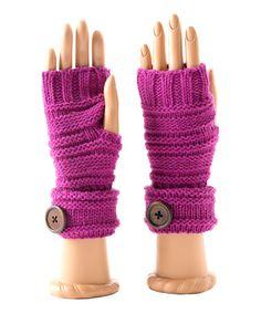 Look at this #zulilyfind! Magenta Milly Wool-Blend Fingerless Gloves by Shiraleah #zulilyfinds