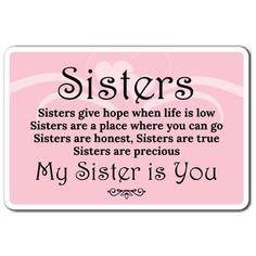 Prayers For My Sister, I Love You Sister, Message For Sister, Sister Quotes Funny, Sister Birthday Quotes, Funny Quotes, Life Quotes, Happy Valentines Day Sister, Sister Sayings