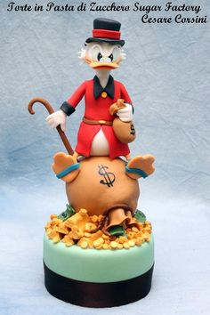 Scrooge McDuck Cake made by Torte in Pasta di Zucchero Sugar Factory