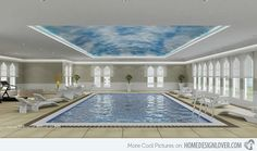 pictures of glass see through pools | 18 Rejuvenating Indoor Pool Inspirations | Home Design Lover