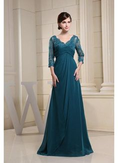 Hottest Style V Neck Appliques Teal Wedding Outfits with Sleeves