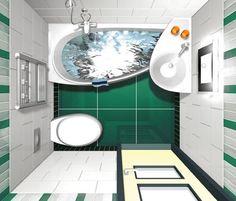 La distribución racional para un baño pequeño con dimensiones mínimas, debe tomar en cuenta la distancia mínima entre cada aparato sanitario...