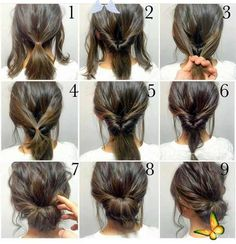 Lazy Hairstyles, Step By Step Hairstyles, Elegant Hairstyles, Everyday Hairstyles, Braided Hairstyles, Hairstyles 2018, Ladies Hairstyles, Bridesmaids Hairstyles, Long Haircuts