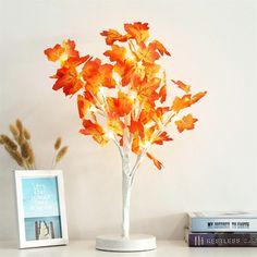 Supply Maple Leaf Pot Light Blossom Desk Top Bonsai Tree Light With 24 Led Beads Led Lamps