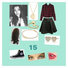 """""""Scarlette Diaz"""" by melaniecade ❤ liked on Polyvore featuring Pilot, Converse, Charlotte Tilbury, J.Crew, Kate Spade, River Island and Alex and Ani"""