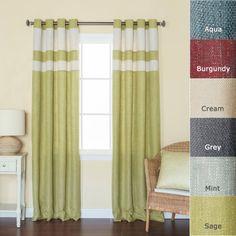 "Best Home Fashion StripedHeavyweightTexturedFaux Linen Curtains - Antique Bronze Grommet Top - Sage - 52""W x 84""L - (Set of 2 Panels) Best Home Fashion http://www.amazon.com/dp/B00E0OMJQK/ref=cm_sw_r_pi_dp_tRXBvb0KEE1ZJ"