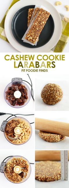 With just 3 simple ingredients you can make these Copycat Cashew Cookie Larabars that are grain-free, refined-sugar free, vegan, and paleo-friendly.