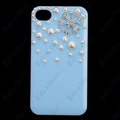 $7.65 Pearl Coated Hard Plastic Prtective Case For iphone 4s/4(Blue) Edealbest.com
