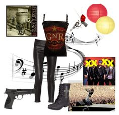 """Chinese Democracy"" by stammy-van-ladler ❤ liked on Polyvore featuring art"