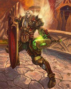 "World of Warcraft ~ ""Blood Elf Paladin"" by davidhueso"
