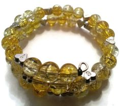 Citrus Yellow  Breast Feeding Bracelet  by MsRetroDesigns, £12.50