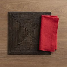Casablanca Square Placemat and Helena Cherry Linen Napkin Thanksgiving Shopping List, Linen Napkins, Casablanca, Placemat, Crate And Barrel, Crates, Card Holder, Cherry, University Place