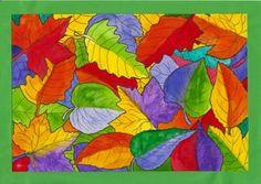 Listy v zářivých (pop art) barvách