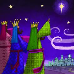 By Éphémeride seasonal calender Christmas Window Decorations, Christmas Nativity Scene, Felt Christmas, Christmas Projects, Modern Christmas Cards, Xmas Cards, Vintage Christmas, Christmas Applique, Three Wise Men