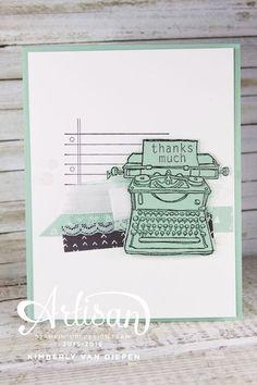 Crafty, Stampin' Up!, Tap Tap Tap, - SU - Typewriter card 2