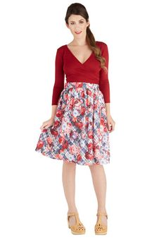 Adept Apprentice Skirt. Two weeks in and youre impressing everyone at your apprenticeship with your skills - now show off your style by sporting this A-line skirt by Bea  Dot! #multiNaN