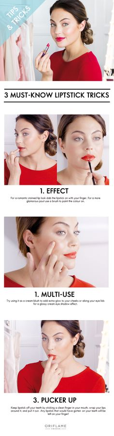 3 must-know lipstick tricks #Oriflame #lips #red