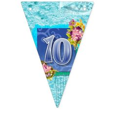 10th birthday bunting banner