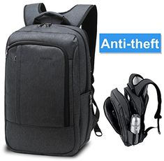 Lapacker Unisex Water Resistant Slim Business Tablet Laptop Backpacks 17 Inch Traveling Bags for Men in Black with Ipad Surface Pocket Fits Macbook Pro Most Computer Backpacks -- More info could be found at the image url. (Note:Amazon affiliate link)