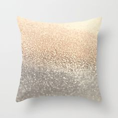 GOLD Throw Pillow by Monika Strigel $20  #gold #glitter #pillow